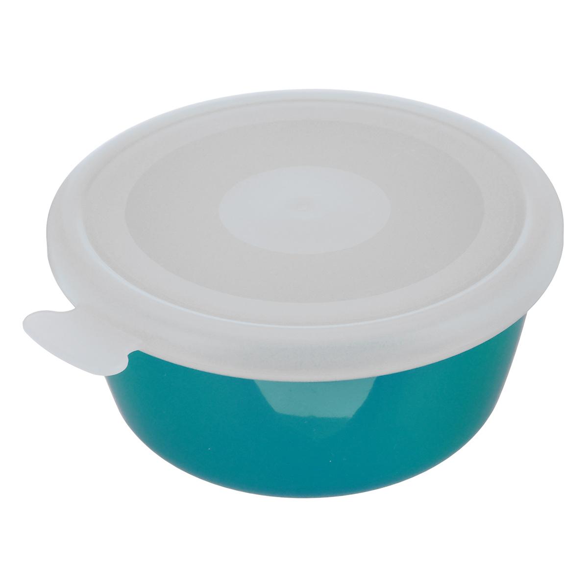 Миска Idea Прованс, с крышкой, цвет: бирюзовый, 350 млМ 1380Миска круглой формы Idea Прованс изготовлена из высококачественного пищевого пластика. Изделие очень функциональное, оно пригодится на кухне для самых разнообразных нужд: в качестве салатника, миски, тарелки. Герметичная крышка обеспечивает продуктам долгий срок хранения.Диаметр миски: 11,5 см.Высота миски: 5,5 см.