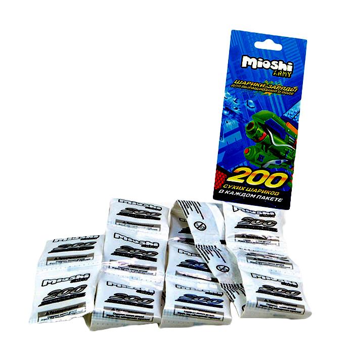 Набор гелевых шариков Mioshi Army, 200 шт Mioshi