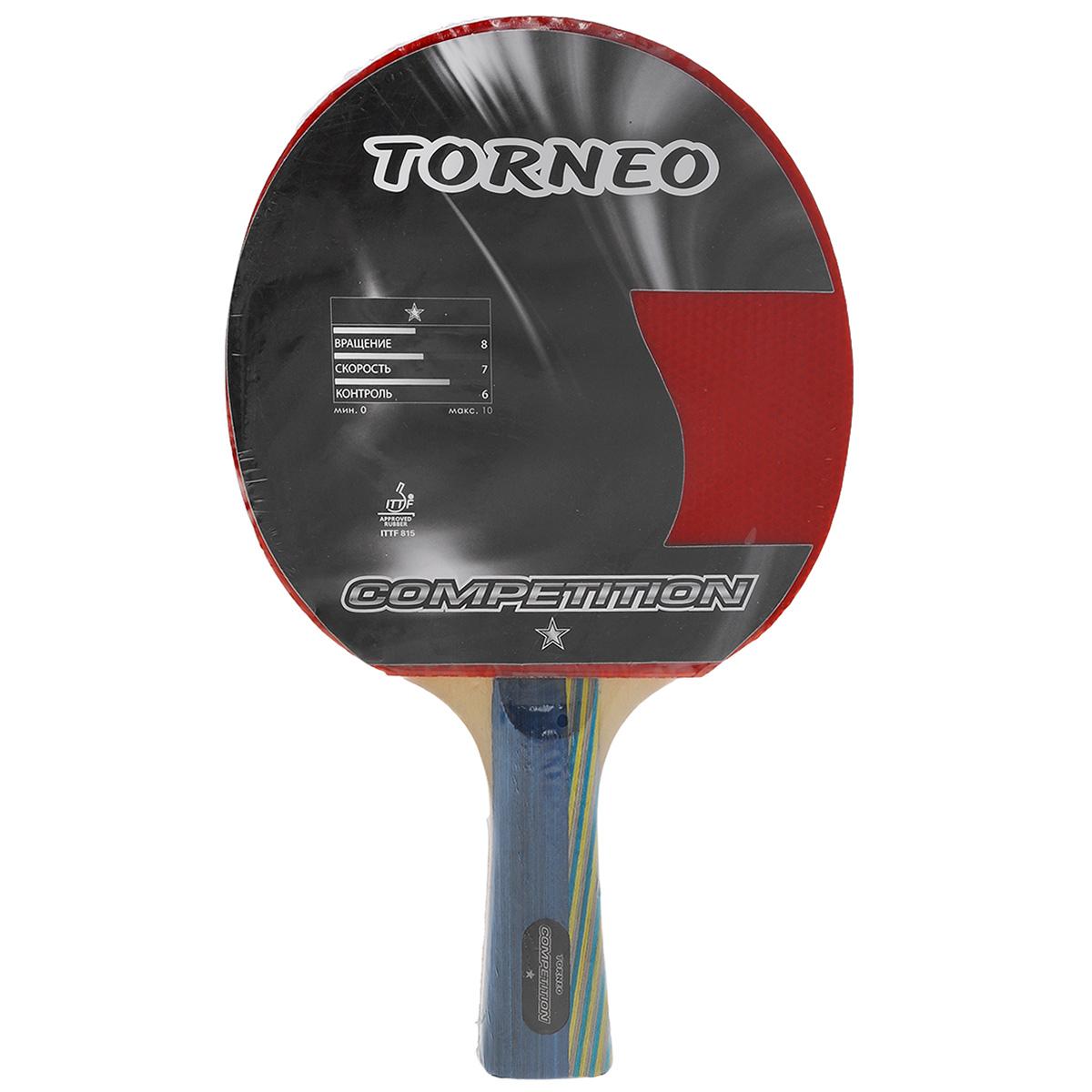 Ракетка для настольного тенниса Torneo Competition ракетка для настольного тенниса torneo tour plustable tennis bat ti b3000