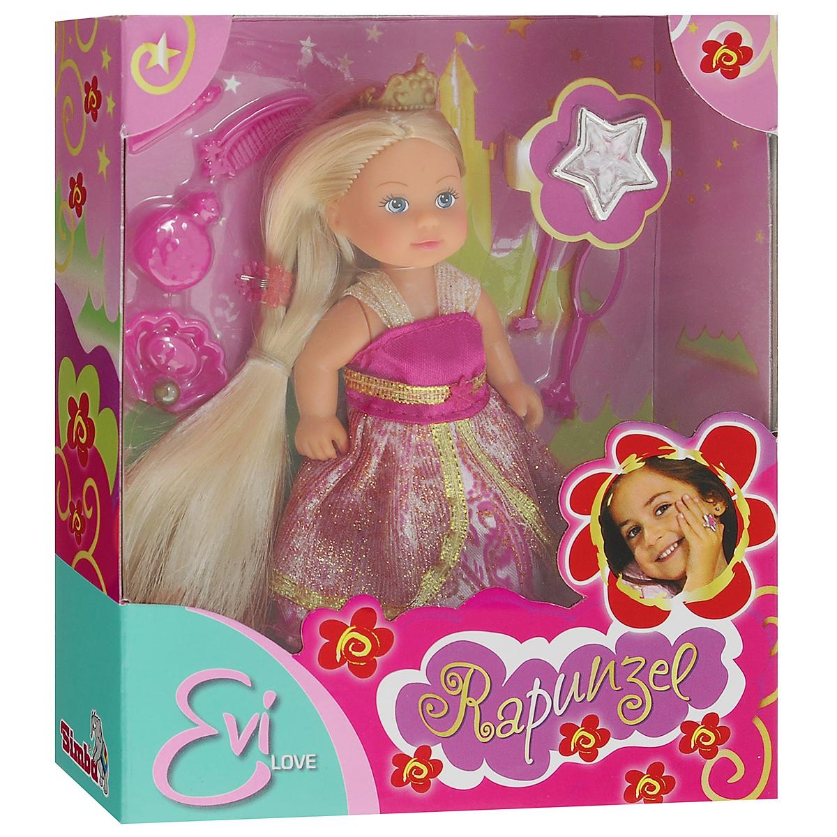 Simba Мини-кукла Еви Rapunzel simba мини кукла еви в летней одежде цвет розовый
