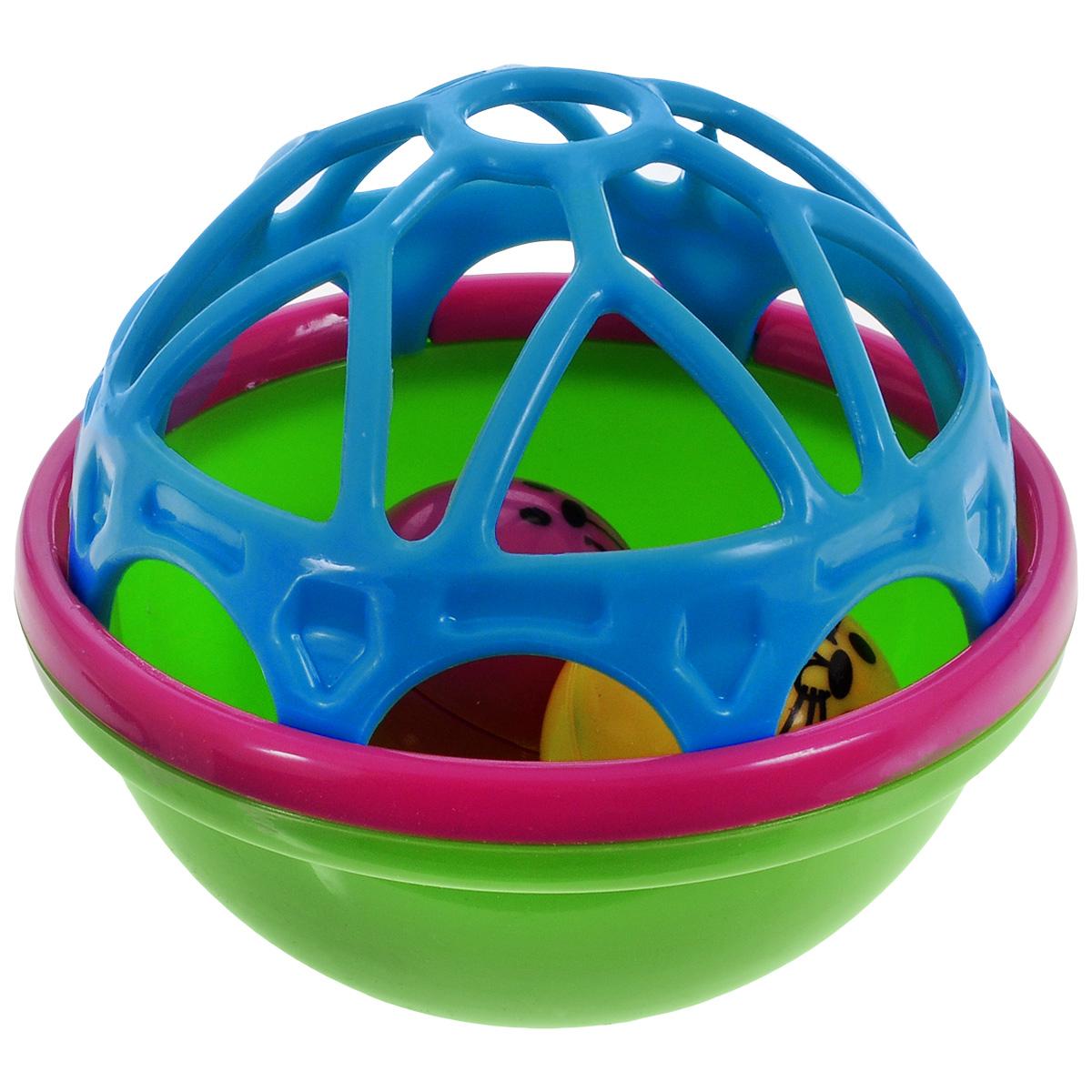Погремушка для ванной Mioshi Лучшие друзья развивающая игрушка погремушка mioshi черепашка