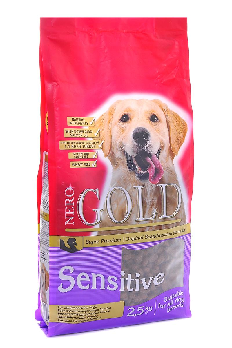 Корм сухой Nero Gold Sensitive, для чувствительных собак, индейка и рис, 2,5 кг корм сухой nero gold adult lamb для взрослых собак ягненок и рис 2 5 кг