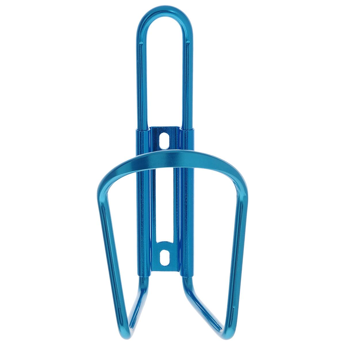 """Алюминиевый флягодержатель """"Larsen"""", способный удерживать не только велофлягу, но и обычные пластиковые бутылки, закрепляется на раме велосипеда. Это незаменимая вещь для спортсменов и любителей длительных велосипедных прогулок. Благодаря держателю, фляга с водой будет у вас всегда под рукой.  Держатель подходит для бутылок объемом от 0,5 л до 1 л и диаметром 6-10 см.    Гид по велоаксессуарам. Статья OZON Гид"""