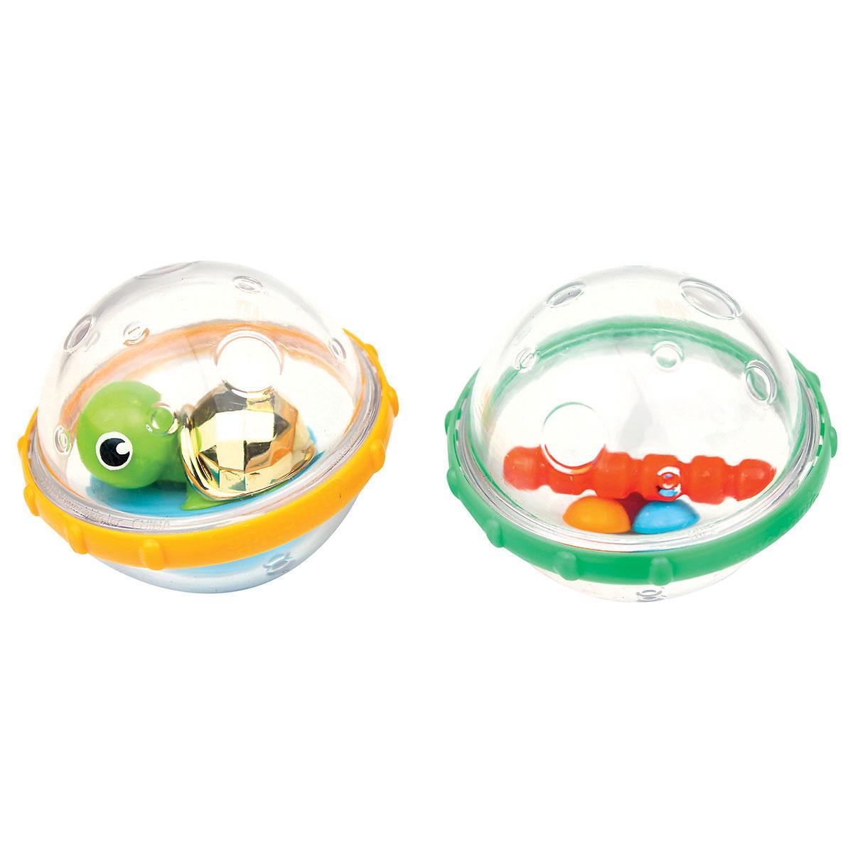 """Игровой набор для ванны Munchkin """"Пузыри-поплавки"""", цвет: желтый, зеленый"""