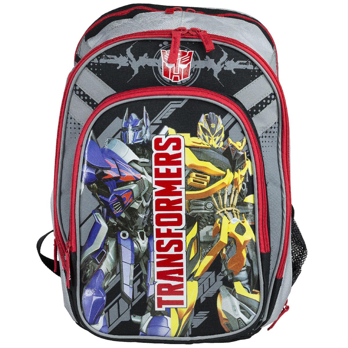 """Фото Рюкзак школьный """"Transformers Prime"""", цвет: черный, серый, красный. TRCB-MT1-731"""
