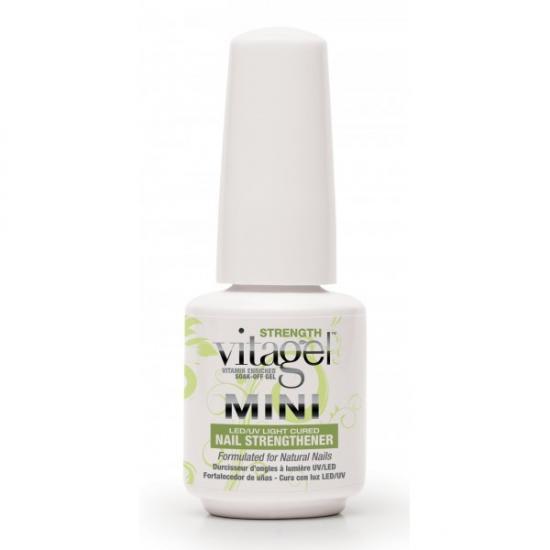 VitaGel Strenght Средство для защиты натуральных ногтей, 9 мл04031Используется как укрепляющее средство для натуральных ногтей. Подходит клиентам с ослабленнми ногтями, нуждающимися в дополнительном питании и укреплении. После 3-4 раз использования VitaGel ПРОЧНОСТЬ состояние натуральных ногтей заметно улучшается, они становятся ощутимо крепче.Стимулирует быстрый рост ногтей, при этом позволяет удерживать молекулы витаминов А, Е и В5 на срок до 14 дней для непрерывного высвобождения питательных веществ в ногтевую пластину.
