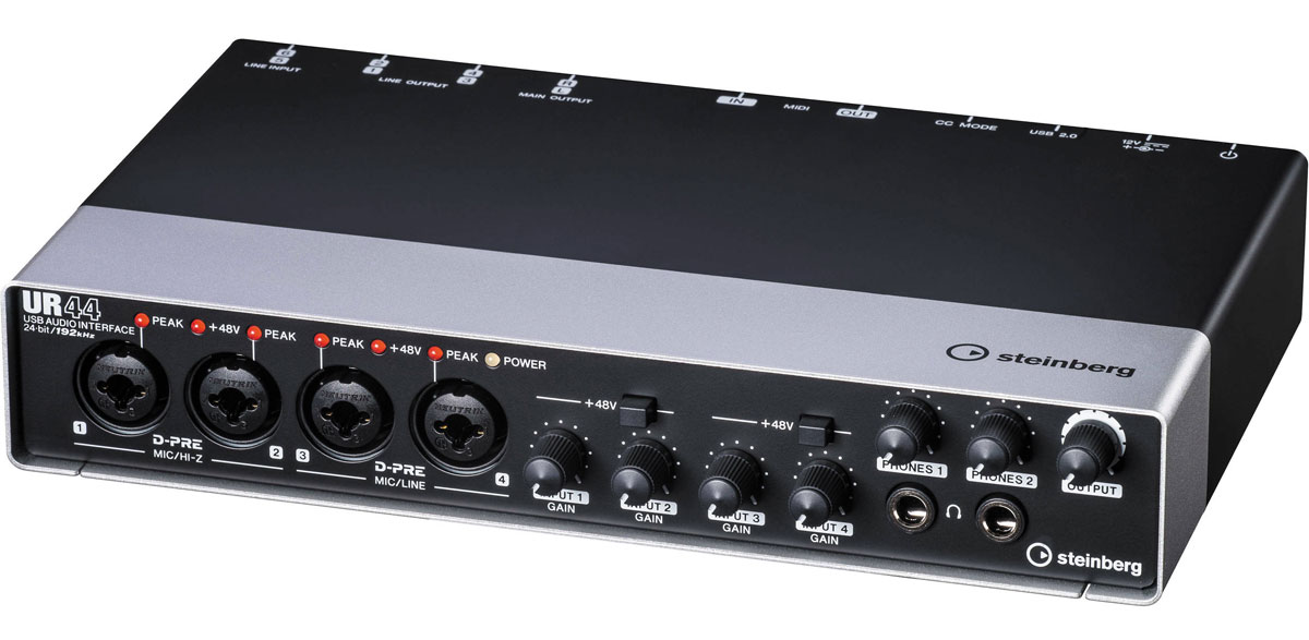 Steinberg UR44, Black аудио интерфейс - Студийное оборудование