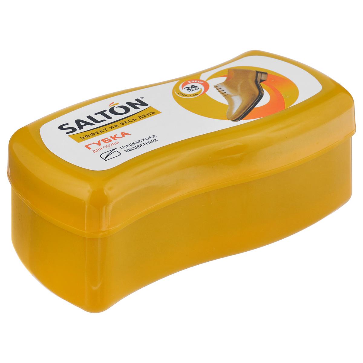 Губка Salton Волна для обуви из гладкой кожи, цвет: бесцветный, 12 см х 5,5 см х 5,5 см262586061Губка Salton Волна с норковым маслом предназначена для ухода за обувью из гладкой кожи, она придает ей естественный блеск. Не использовать для замши, нубука и текстиля.Размер: 12 см х 5,5 см х 5,5 см.Состав: пенополиуретан, силиконовое масло, норковое масло, воск, ланолин, отдушка.Товар сертифицирован.