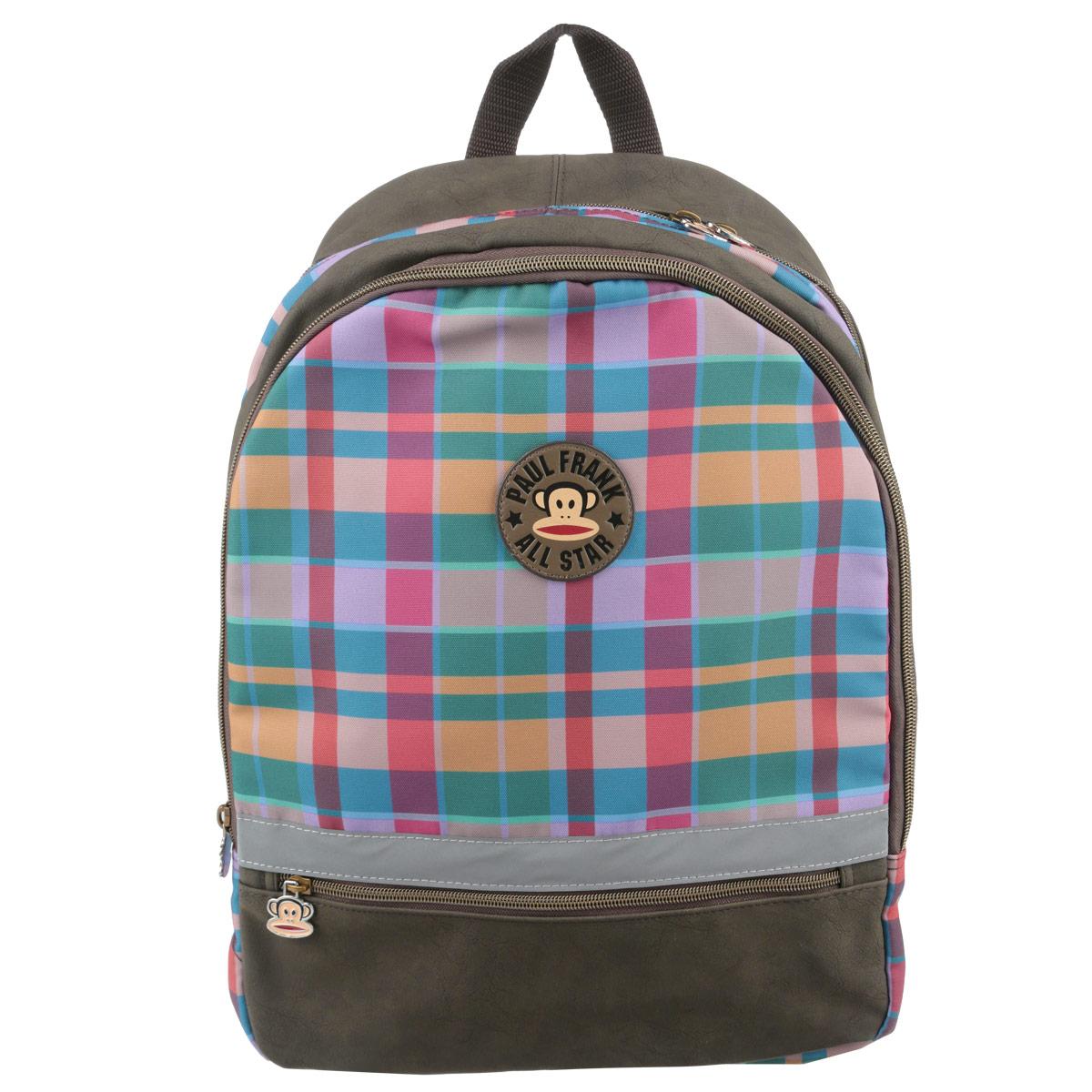 Рюкзак Kinderline Paul Frank, цвет: коричневый, розовый, зеленый сумка kinderline international mhbz us1 51box5 v3