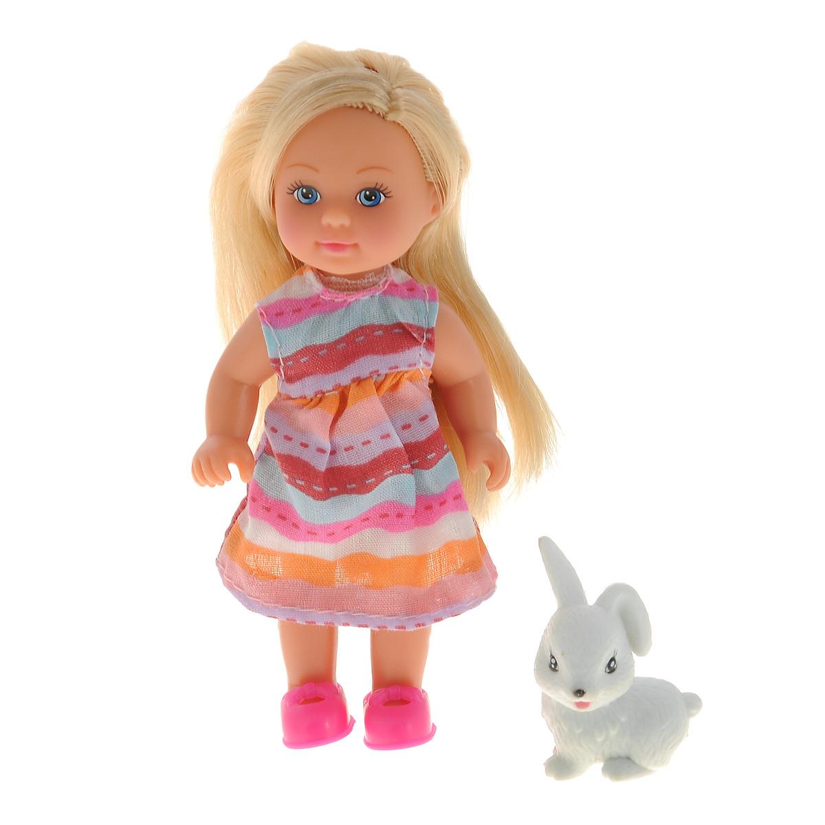 Simba Мини-кукла Еви с зверюшкой simba мини кукла еви в летней одежде цвет розовый