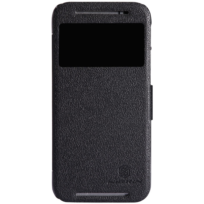 Nillkin Fresh Series Leather Case чехол для HTC One (M8), Black