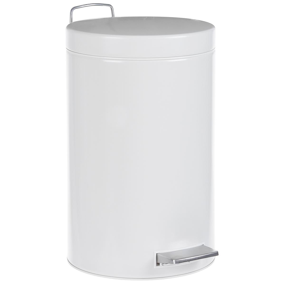 Ведро для мусора  Brabantia , с педалью, цвет: белый, 12 л. 214660 - Инвентарь для уборки