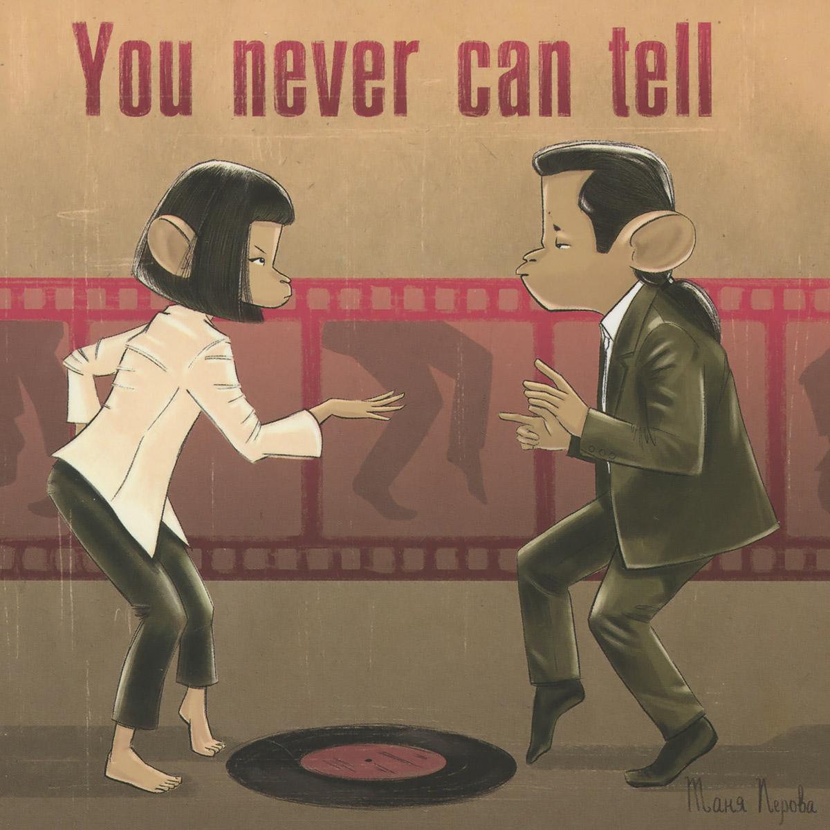 """Оригинальная дизайнерская открытка """"You Never Can Tell"""" из набора «Киноманки» выполнена из плотного матового картона. На лицевой стороне расположена репродукция картины художника Татьяны Перовой. На задней стороне имеется поле для записей.  Такая открытка станет великолепным дополнением к подарку или оригинальным почтовым посланием, которое, несомненно, удивит получателя своим дизайном и подарит приятные воспоминания."""