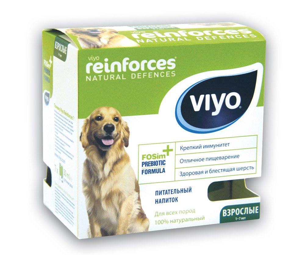 Пребиотический напиток Viyo Reinforces Dog Adult, для взрослых собак, 7 х 30 мл пребиотический напиток viyo reinforces cat adult для взрослых кошек 7 х 30 мл