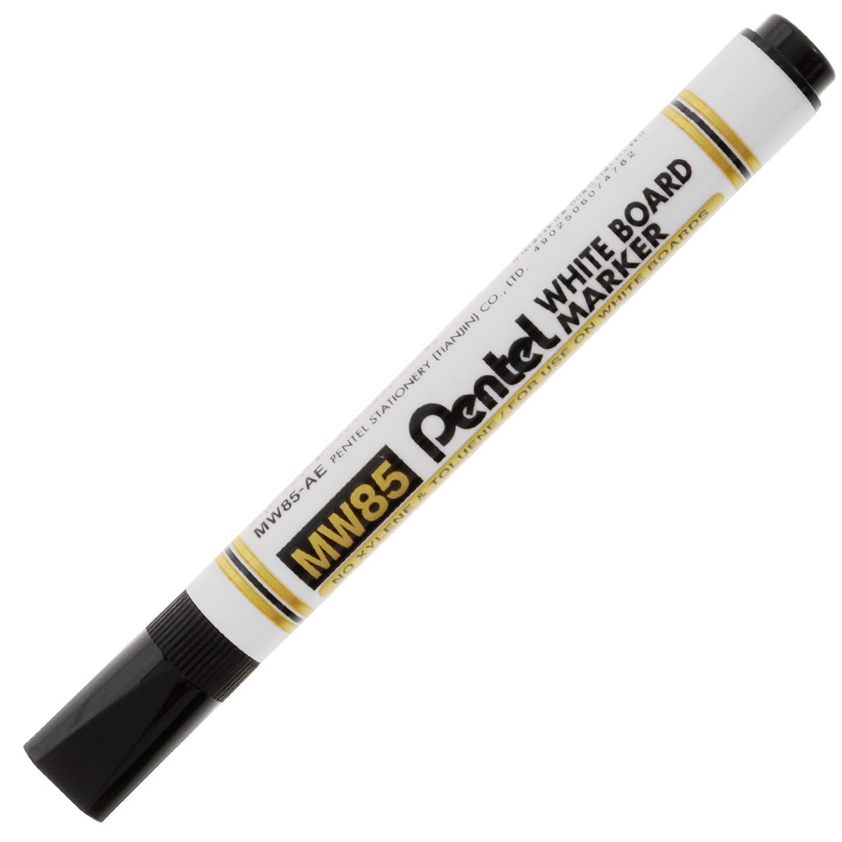 Маркер Pentel, для досок, цвет: черныйPMW85-AМаркер Pentel черного цвета станет для вас верным помощником при проведении презентаций или семинаров.Маркер выполнен из пластика и предназначен для письма на доске. Корпус маркера белого цвета, а цвет колпачка соответствует цвету чернил. Маркер обеспечивает ровные и четкие линии, диаметр стержня 4,2 мм. Уникальный квадратный колпачок не позволит ему скатиться со стола, и он всегда будет у вас под рукой.Рекомендуемый возраст: от 3 лет.