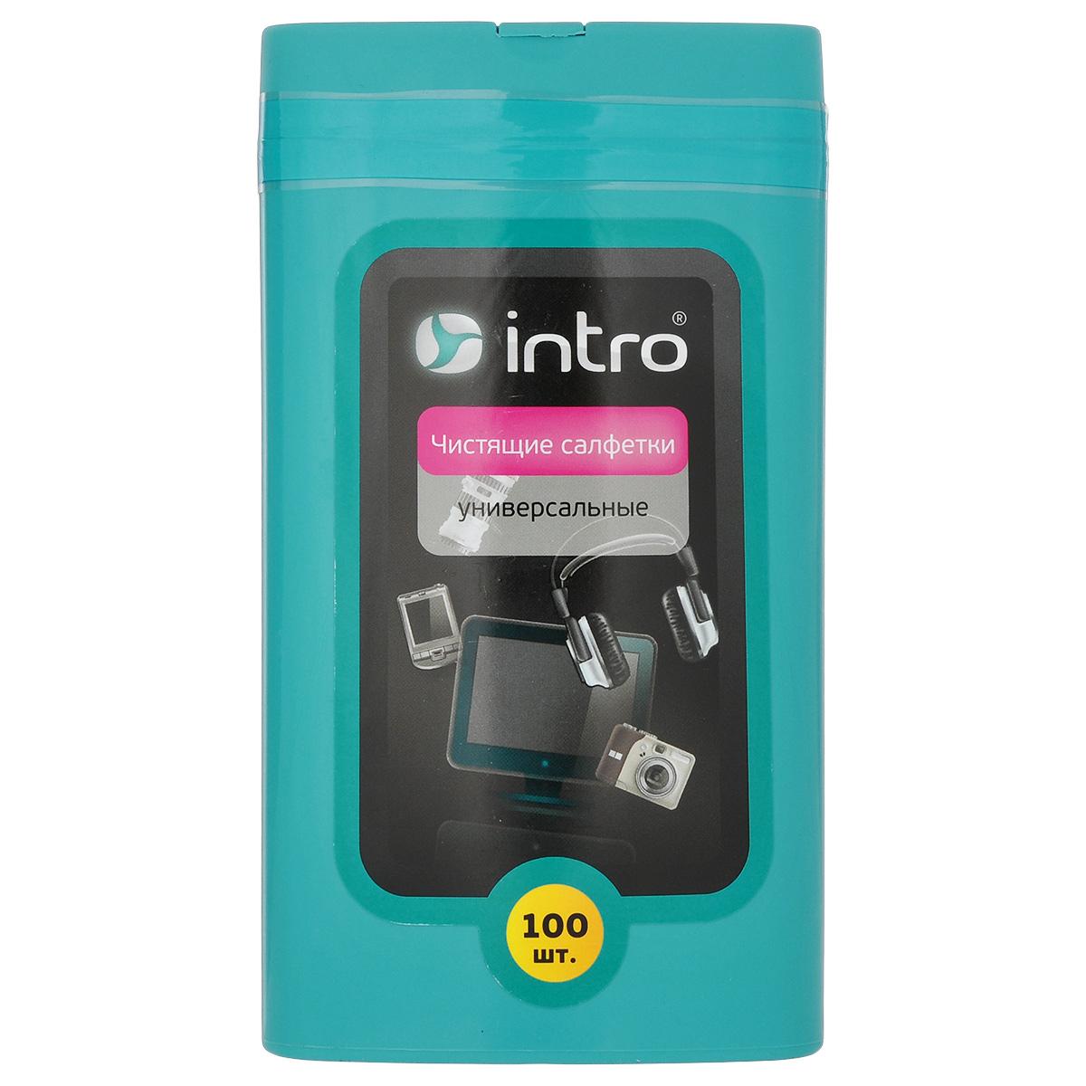 Чистящие салфетки универсальные Intro, 100 шт
