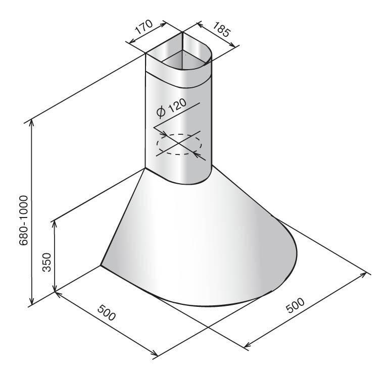 ElikorЭпсилон 50П-430-П3Л встраиваемая вытяжка Elikor