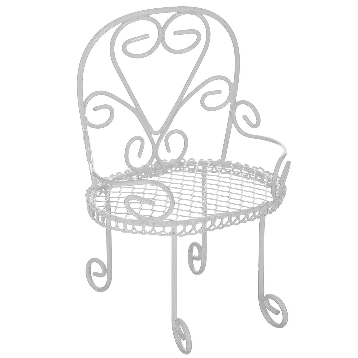 Миниатюра кукольная ScrapBerrys Стул, цвет: белый. SCB271030SCB271030Миниатюра кукольная ScrapBerrys изготовлена из металла в виде стульчика. Такая миниатюра прекрасно подойдет для декорирования кукольных домиков, а также для оформления работ в самых различных техниках.