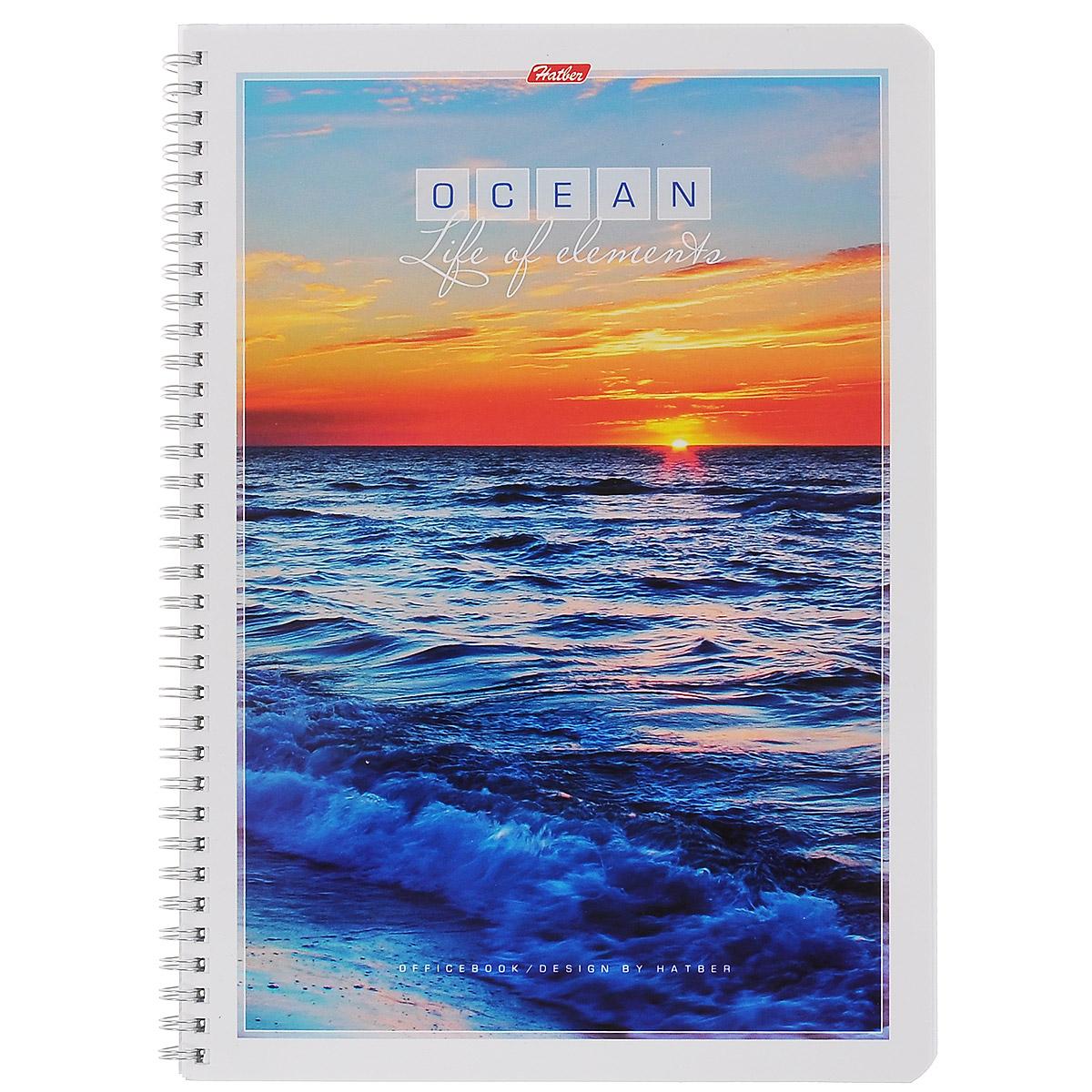 Тетрадь в клетку Hatber Океан, 96 листов. Формат А496Т4B1грТетрадь Hatber Океан предназначена для объемных записей и незаменима для старшеклассников и студентов.Обложка тетради с закругленными углами выполнена из мелованного картона с красивым изображением заката солнца и океана. Внутренний блок тетради на гребне состоит из 96 листов белой бумаги с линовкой в клетку голубого цвета без полей. Все листы блока являются отрывными и снабжены микроперфорацией, а также стандартными отверстиями для подшивки в папки с кольцевым механизмом.