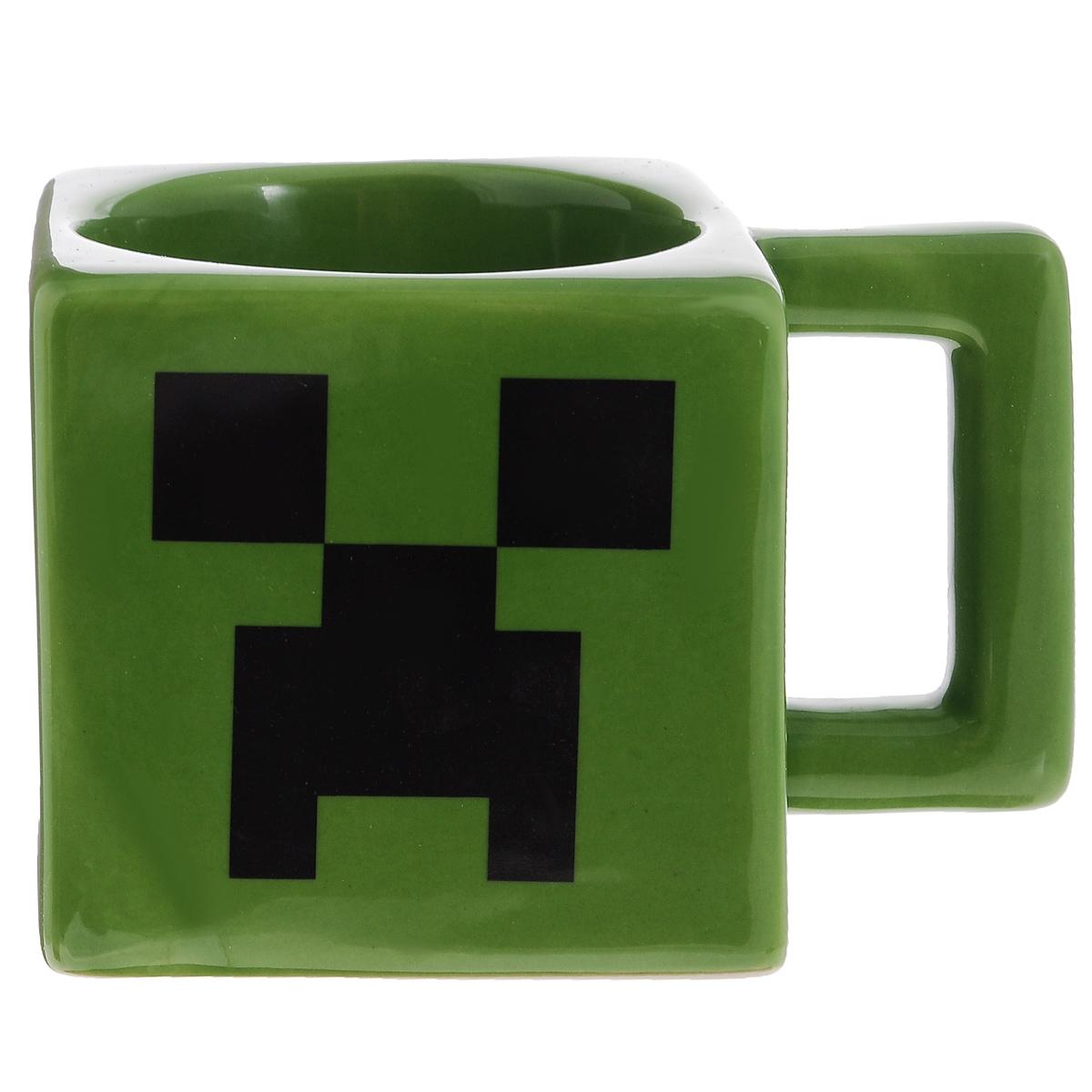 Квадратная кружка Minecraft Creeper Face Mug - зеленого цвета с изображением  лица Крипера из Minecraft!  Отличный подарок фанату! Утро начинается с чашки чая или кофе, утро начинается  с квадратной кружки по Майнкрафту!   Если ваш ребенок увлекается игрой Майнкрафт, такой подарок ему очень  понравится!