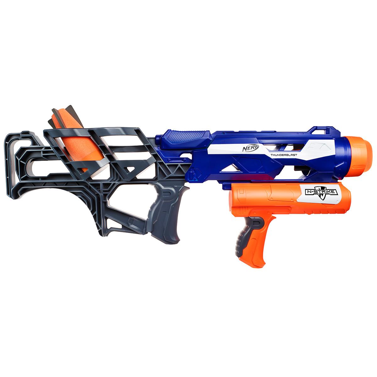 Бластер Nerf Ракетница, цвет: синий, оранжевый игрушечное оружие nerf бластер элит разрушитель