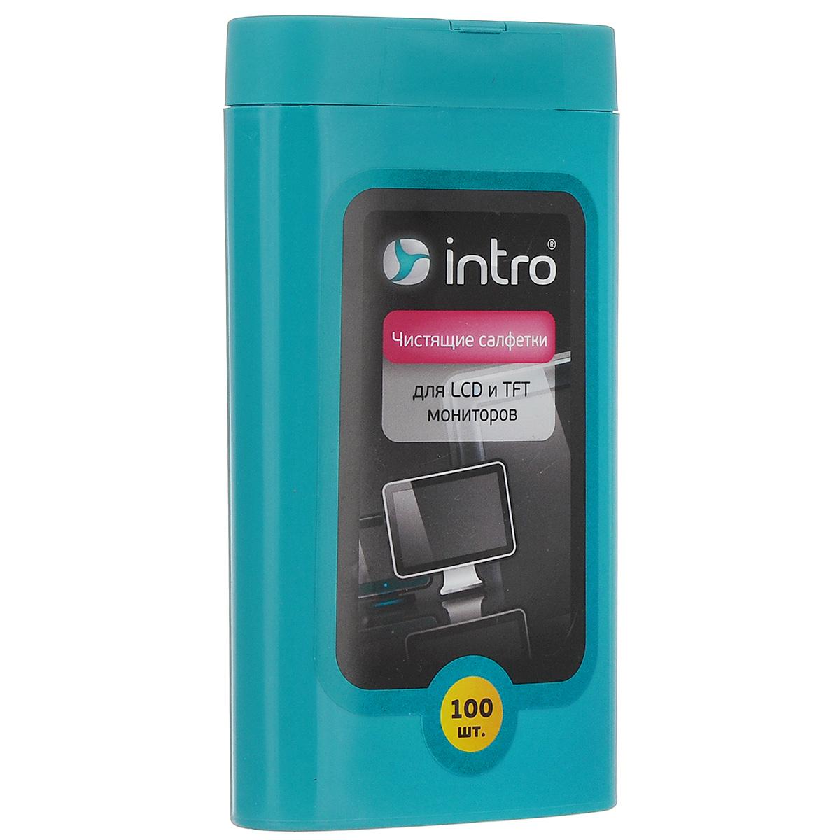 Чистящие салфетки для LCD и TFT мониторов Intro, 100 шт 2 8 inch tft lcd display digital peephole door viewer camera
