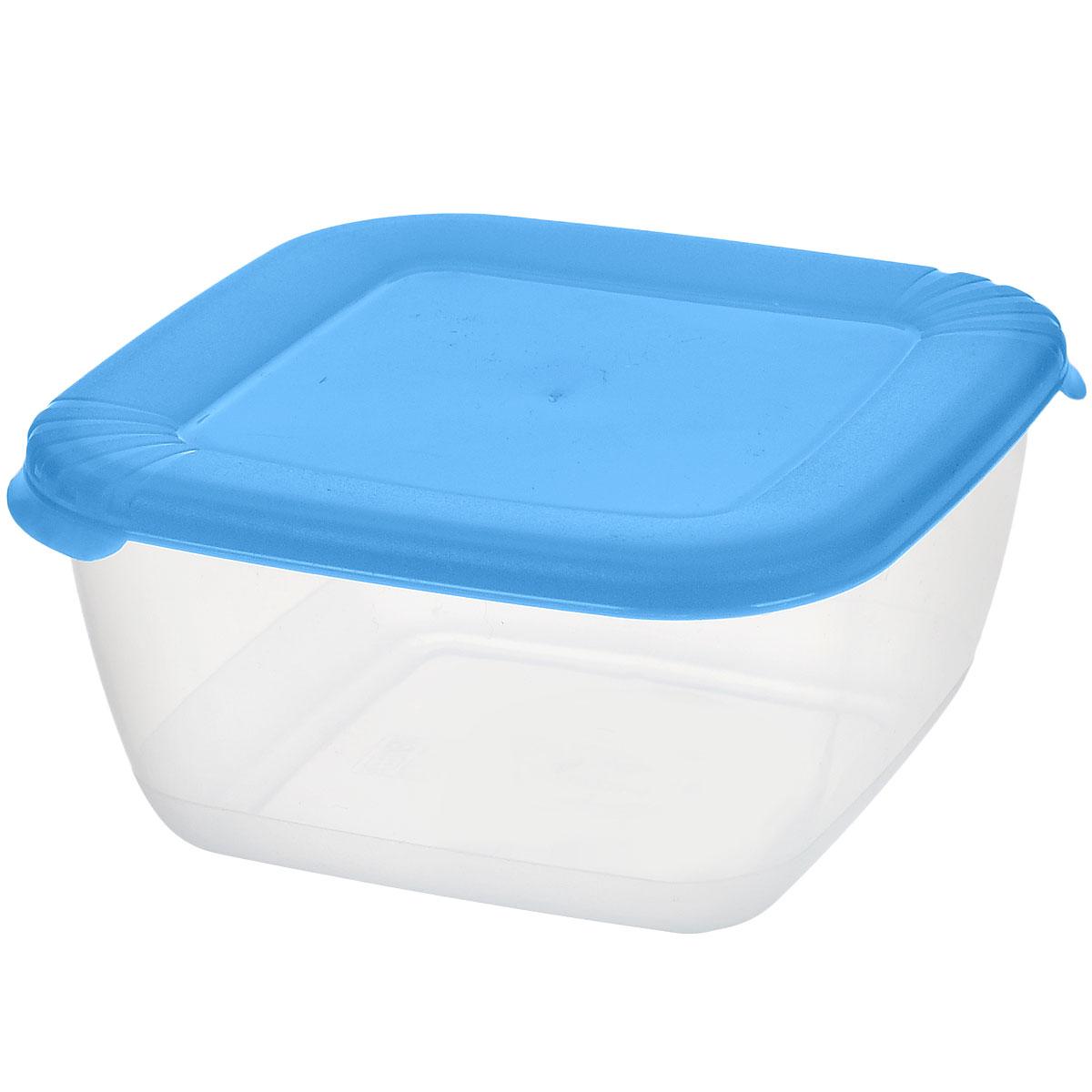 Контейнер для СВЧ Полимербыт Лайт, цвет: прозрачный, голубой, 0,46 лС542_голубойКвадратный контейнер для СВЧ Полимербыт Лайт изготовлен из высококачественного прочного пластика, устойчивого к высоким температурам до +120°С. Яркая цветная крышка плотно закрывается, дольше сохраняя продукты свежими и вкусными. Контейнер идеально подходит для хранения пищи, его удобно брать с собой на работу, учебу, пикник или просто использовать для хранения пищи в холодильнике.Можно использовать в микроволновой печи и для заморозки в морозильной камере при минимальной температуре -40°С. Можно мыть в посудомоечной машине.