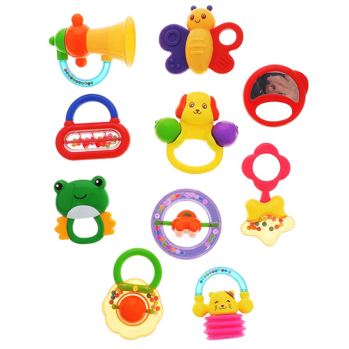 Набор игрушек-погремушек Малышарики, 10 шт нтм игрушка пластм набор погремушек 4602010375831 мульт