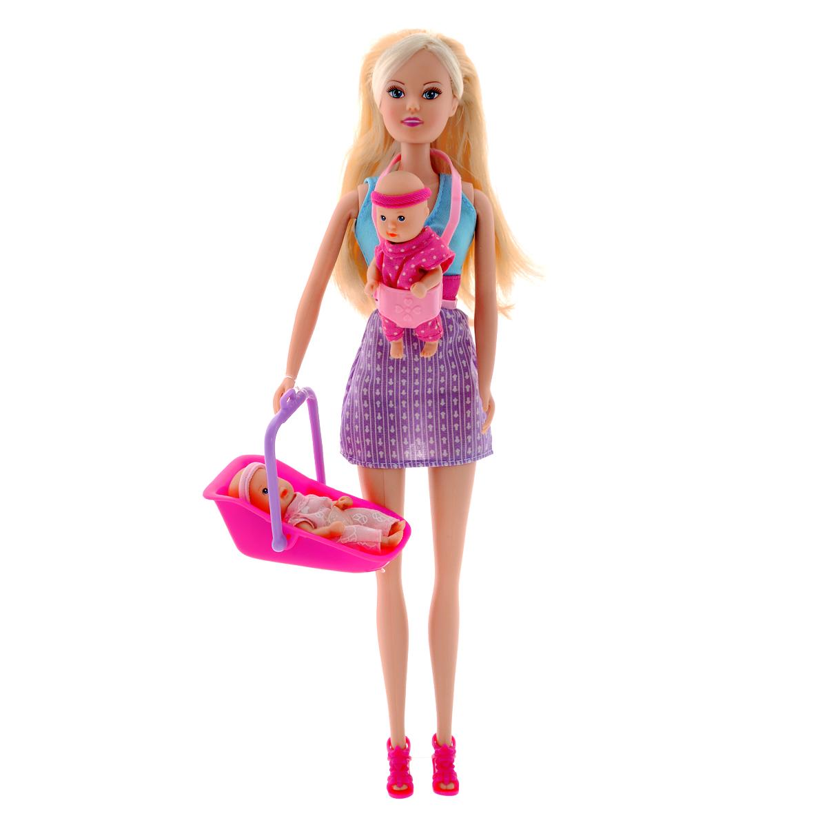 Simba Кукла Steffi Love Babysitter люлька переноска для куклы