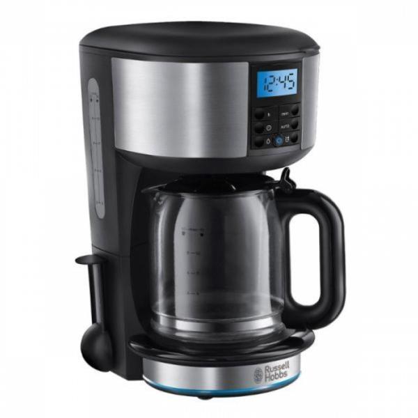 Russell Hobbs 20681-56 Legacy Polished кофеварка20681-56Кофеварка обладает улучшенной технологией подачи воды для максимального смачивания всей поверхности молотого кофе, что гарантирует сохранение богатого вкуса и аромата, а оптимальная температура воды для заваривания кофе достигается на 50% быстрее*.Кофеварка Legacy может приготовить до 10 чашек за одно заваривание (емкость стеклянного кувшина 1.25 л.), а если вам необходимо меньше - просто выберите опцию на 1-4 чашки. Кофеварка обладает цветовым кольцом с красной подсветкой, которое индицирует режим заваривания и функцию поддержания тепла после приготовления.