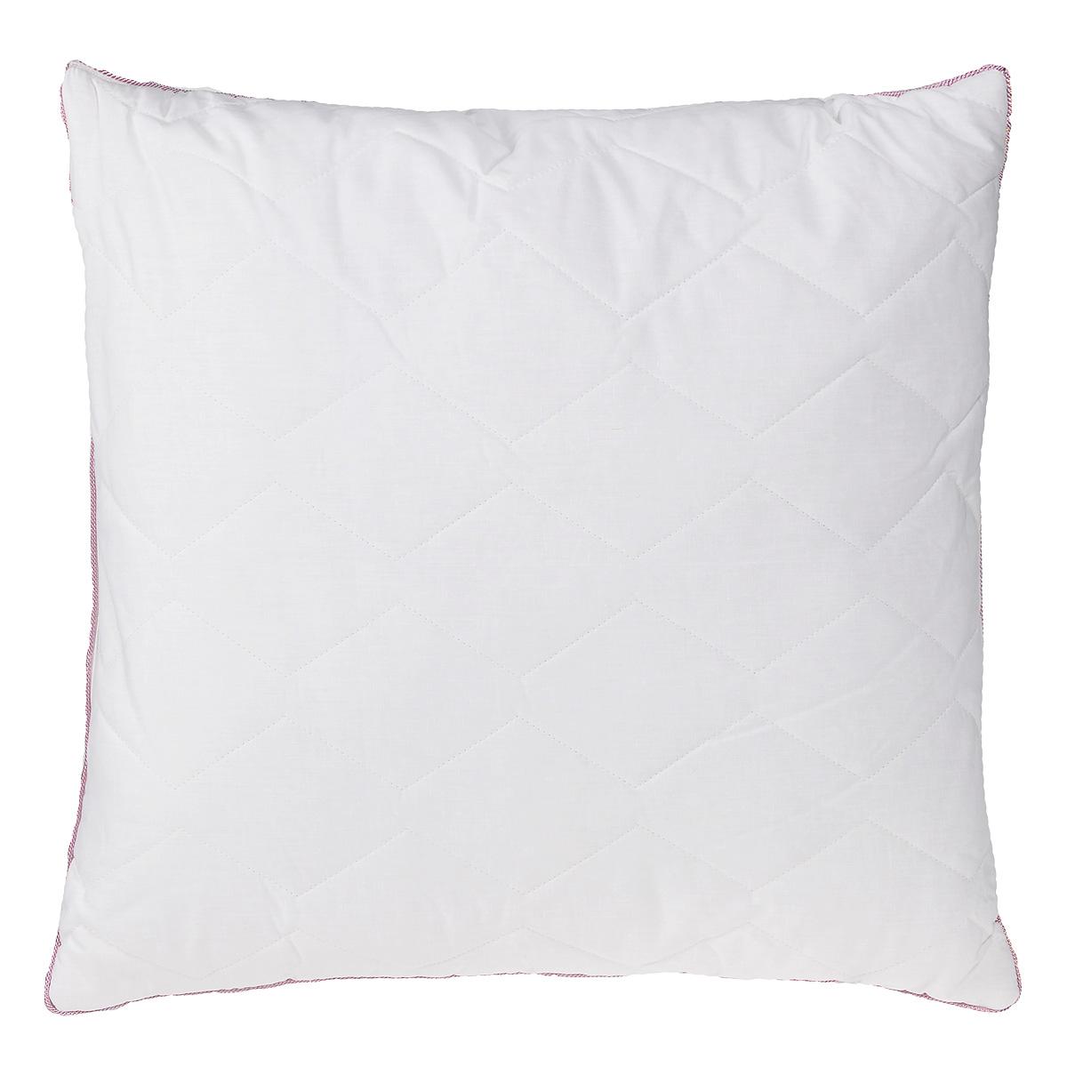 """Подушка Mona Liza """"Premium"""", наполнитель: льняное волокно, цвет: белый, 70 х 70 см"""