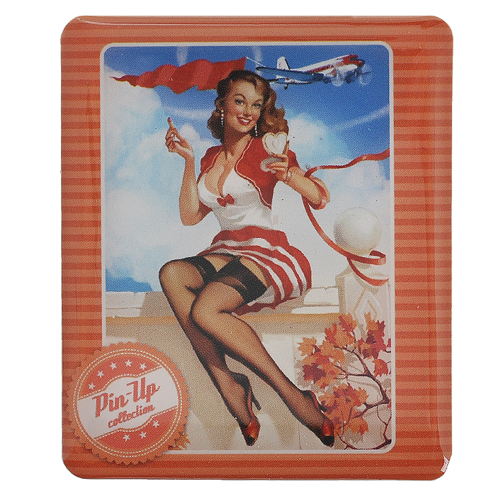 Декоративный магнит Девушка с зеркальцем, 6 см х 5 см. 3153231532Декоративный магнит прямоугольной формы Девушка с зеркальцем выполнен из агломерированного феррита и оформлен изображением девушки в стиле Pin up.Магнит отлично подойдёт для декорирования Вашего интерьера. А так же станет приятным и необычным подарком для друзей.