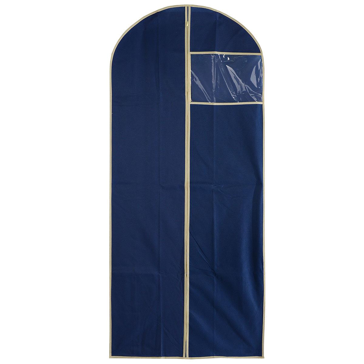 Чехол для пальто Cosatto, цвет: синий, 137 х 60 смCOVLCAT010Чехол для пальто Cosatto изготовлен из дышащего нетканого материала (полипропилена), безопасного в использовании. Предназначен для хранения пальто и другой длинной верхней одежды. Имеет прозрачное окно, застежку-молнию и специальное отверстие для крючка вешалки. Материал можно протирать в случае загрязнения влажной тряпкой.