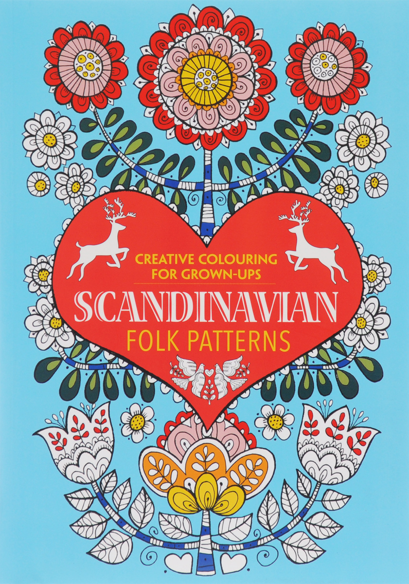 Scandinavian Folk Patterns: Creative Colouring for Grown-Ups santa sticker and colouring book