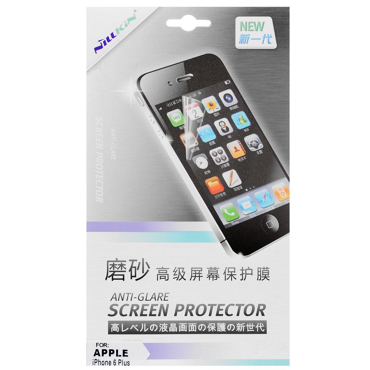 Nillkin Screen Protector защитная пленка для Apple iPhone 6 Plus, матоваяSP-066Защитная пленка Nillkin Screen Protector для Apple iPhone 6 Plus сохраняет экран гладким и предотвращает появление на нем царапин и потертостей. Структура пленки позволяет ей плотно удерживаться без помощи клеевых составов. Пленка практически незаметна на экране устройства и сохраняет все характеристики цветопередачи и чувствительности сенсора.