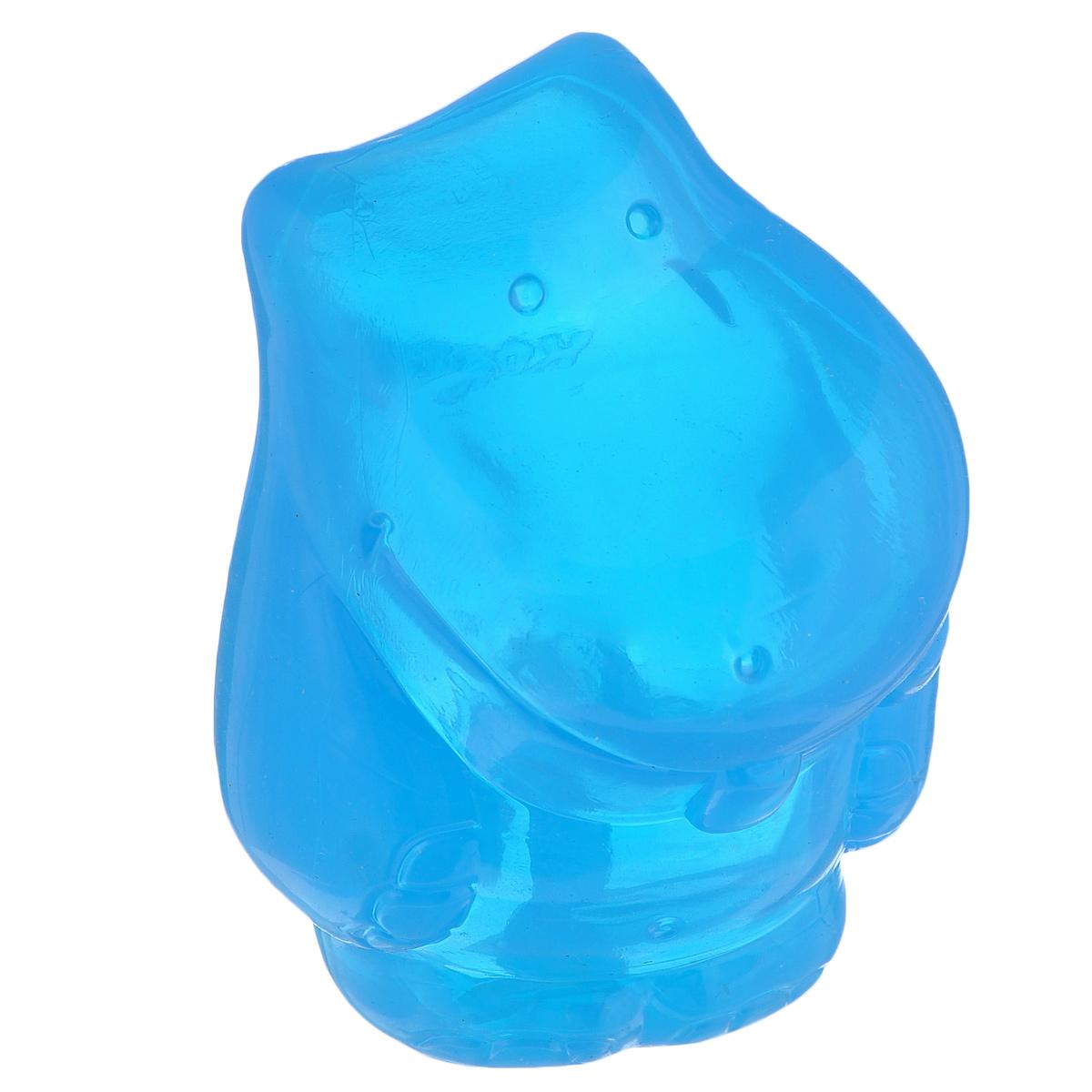 Игрушка для собак Kong Сквиз Джелс Бегемот, большой, с пищалкой, цвет: синий игрушка аппортировка kong safestix большая цвет светло зеленый pf1
