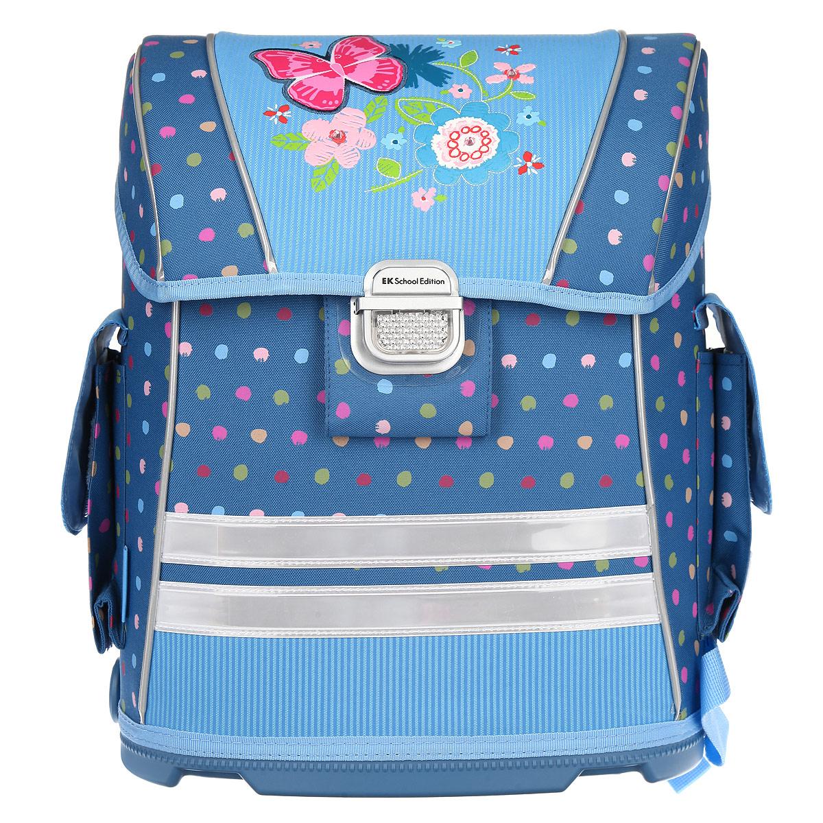 Ранец школьный Erich Krause  Romance , модель Ergo, цвет: голубой, синий. 37125 -  Ранцы и рюкзаки