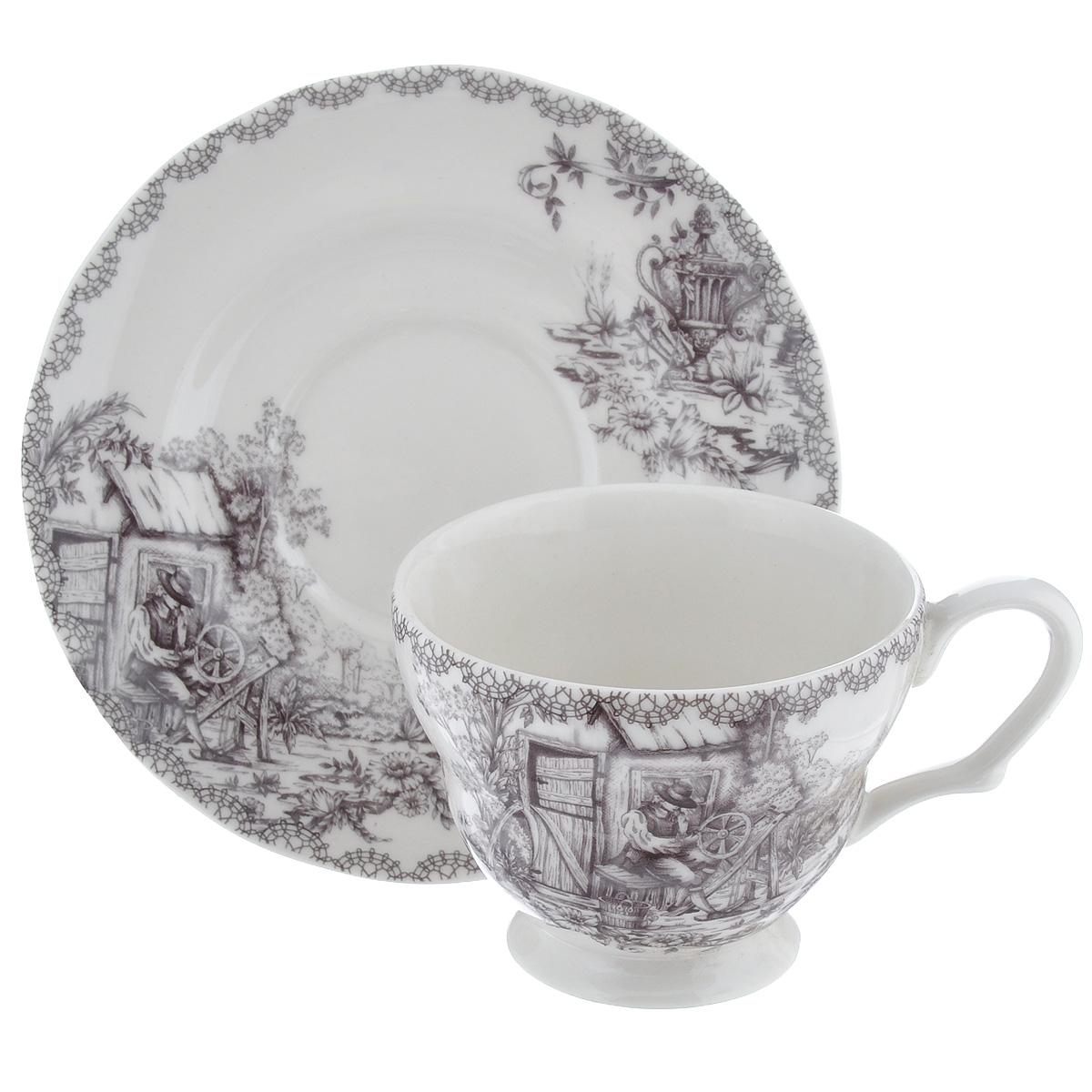 Чайная пара Utana Инглиш принтс Флинт, 2 предметаUTEF97301/2Чайная пара Utana Инглиш принтс Флинт состоит из чашки и блюдца, выполненных из высококачественной керамики. Красочность оформления придется по вкусу и ценителям классики, и тем, кто предпочитает утонченность и изысканность. Оригинальный принт придает набору особый шарм, который понравится каждому.Предметы набора можно использовать в микроволновой печи и мыть в посудомоечной машине.Объем чашки: 200 мл.Диаметр чашки (по верхнему краю): 9 см.Высота чашки: 7,5 см.Диаметр блюдца: 15 см.
