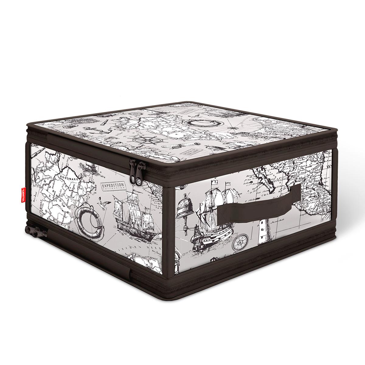 Кофр для хранения Valiant Expedition, с застежкой-молнией, 30 х 28 х 15 см кофр для хранения valiant japanese white с застежкой молнией 30 х 28 х 15 см