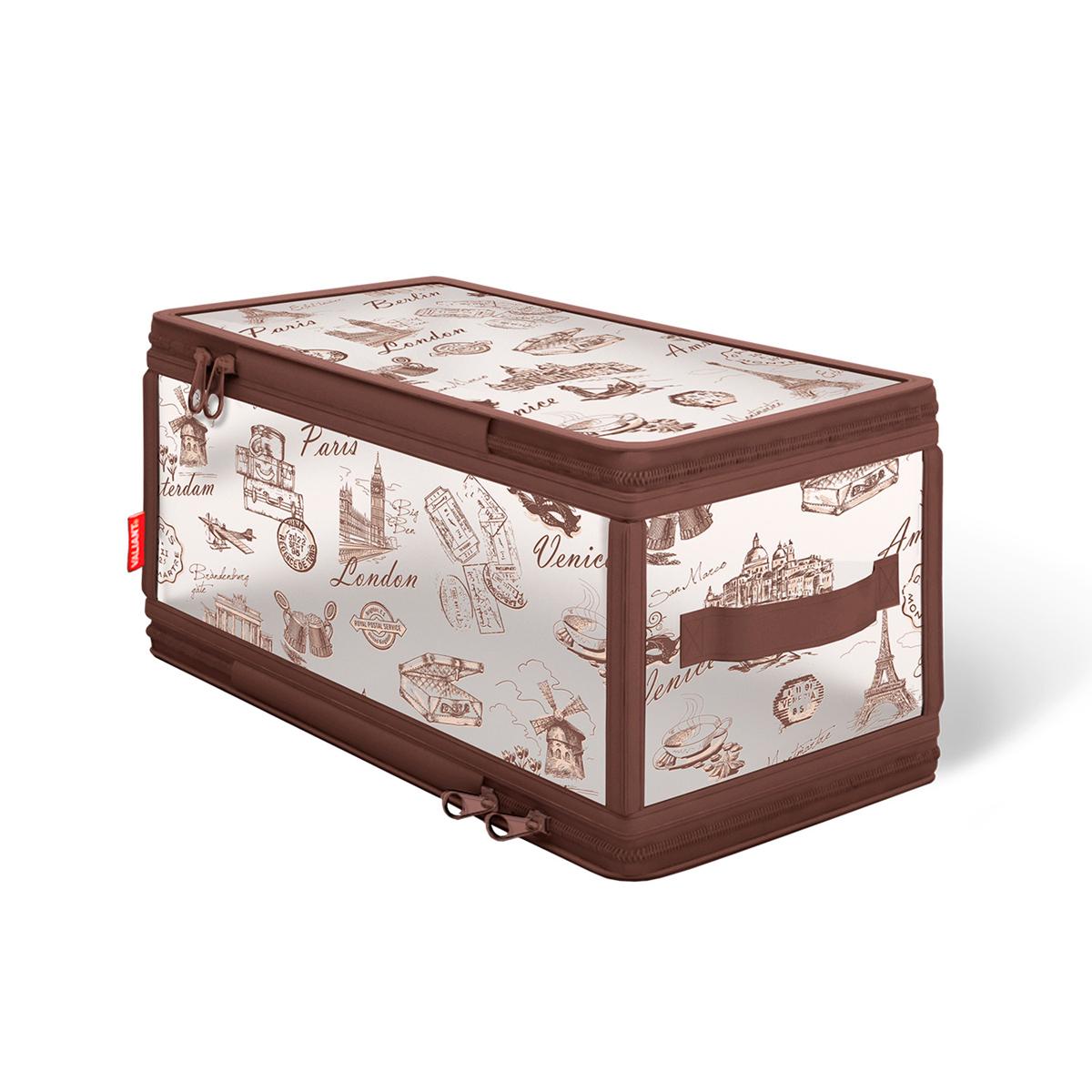 Кофр для хранения Valiant Travelling, с застежкой-молнией, 30 см х 15 см х 15 см valiant кофр для хранения жёсткий малый travelling