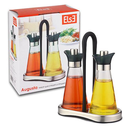 Набор для масла и уксуса Else Augusta, 3 предмета набор else palermo для масла уксуса и специй 5 предметов