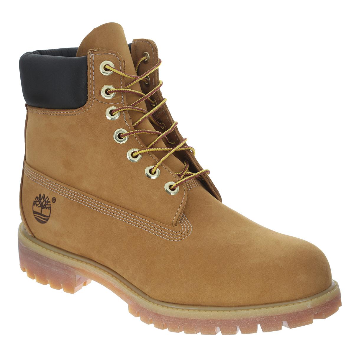 Ботинки мужские Timberland 6-inch Premium Boot, цвет: песочный. TBL10061W. Размер 11,5 (44,5)TBL10061WВысокие мужские ботинки 6-inch Premium Boot от Timberland заинтересуют вас своим дизайном с первого взгляда! Модель изготовлена из натурального нубука и оформлена декоративной прострочкой, задним ремнем, оригинальным плетением на шнурках, сбоку - тисненым логотипом бренда. Высокий язычок и шнуровка обеспечивают плотное прилегание верхней части ботинок к ноге, создавая дополнительную теплозащиту. Съемная стелька EVA с поверхностью из натуральной кожи обеспечивает максимальный комфорт при движении. Каблук и подошва с протектором гарантируют идеальное сцепление с любыми поверхностями.Модные ботинки не оставят вас незамеченным!