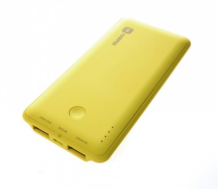 Harper PB-6001, Lime внешний аккумулятор 2600mah power bank usb блок батарей 2 0 порты usb литий полимерный аккумулятор внешний аккумулятор для смартфонов светло зеленый