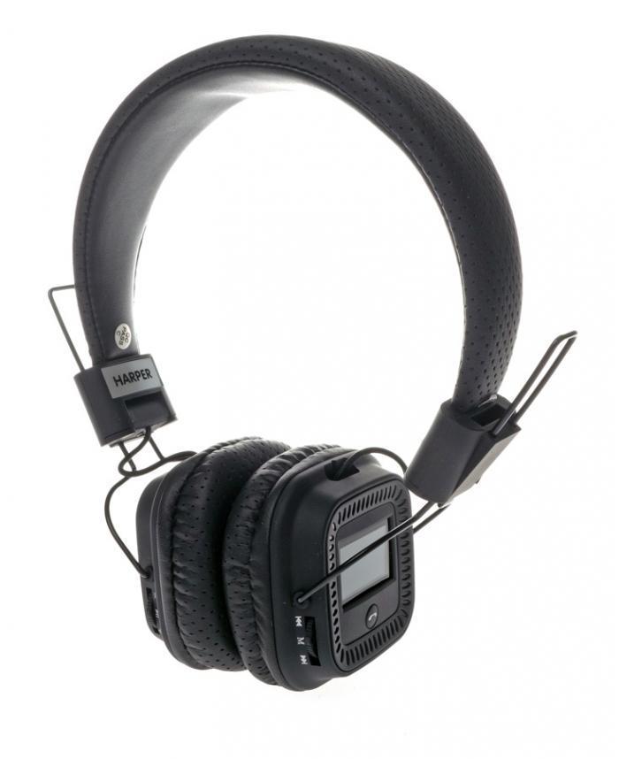 Harper HB-411, Black беспроводные наушникиHB-411 BlackНаушники Harper HB-411 - это качественный звук, воплощенный в эргономичной стильной форме.Встроенный MP3-плеер. Наслаждайтесь музыкой без привязки к смартфону или планшету. Загрузителюбимые треки на флеш-карту и вставьте ее в наушники.FM-радио и LCD-дисплей. Слушайтелюбимую радиостанцию в хорошем качестве. На дисплее Harper HB-411 отображается частота радиостанции, идругая информация.Портативная конструкция. Эффективное снижение окружающего шума.Мягкие вставки обеспечивают плотное и одновременно комфортное прилегание к голове.Простоеуправление. Вы легко переключите функцию, найдете нужный канал, отрегулируете громкость, ответите нателефонный вызов.