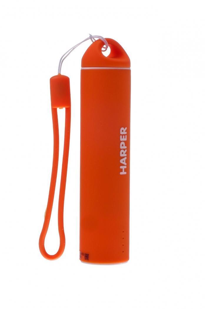 Harper PB-2602, Orange внешний аккумуляторPB-2602 OrangeБудь легким и ярким! Для молодых и энергичных представлен большой выбор вариантов дизайна и ярких цветов для активной жизни.Компактные размеры Harper PB-2602 позволяют без труда носить его как оригинальный аксессуар на сумке илирюкзаке. Размеры аккумулятора существенно меньше размеров стандартного смартфона. При этом, аккумуляторспособен полностью зарядить мобильный телефон или смартфон.