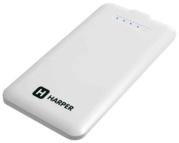 Harper PB-4008, White внешний аккумуляторPB-4008 whiteУльтратонкий внешний аккумулятор Harper PB-4008 пригодится для заряда современных гаджетов в самых разных ситуациях: на природе, дома, на даче. Комплектуется универсальным кабелем для зарядки различных устройств (4 разъема).