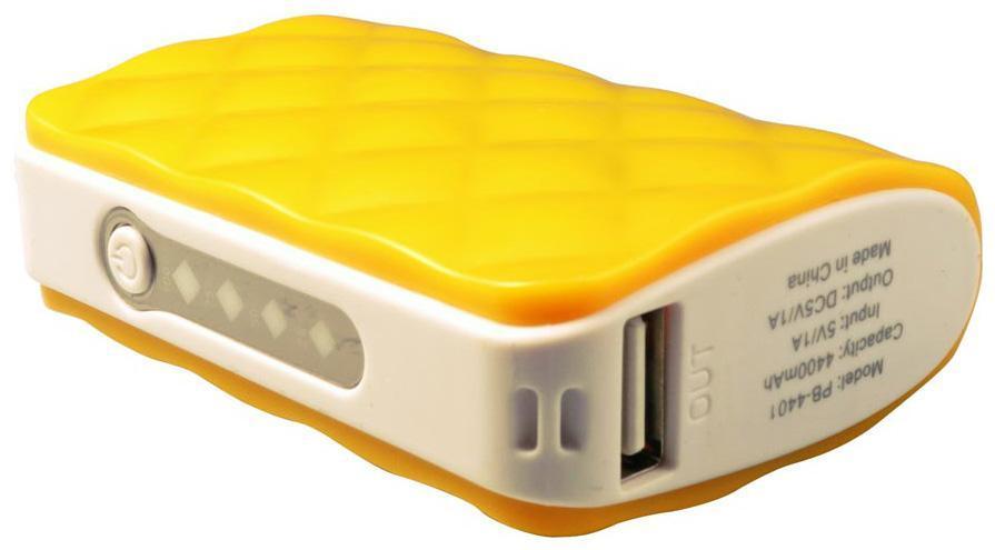 Harper PB-4401, Yellow внешний аккумуляторPB-4401 yellowHarper PB-4401 - сверхполезный брелок на ключи, способный полностью зарядить несколько раз мобильный телефон или планшет. Встроенный фонарик поможет подсветить при необходимости дорогу или найти замочную скважину в плохо освещенном месте.