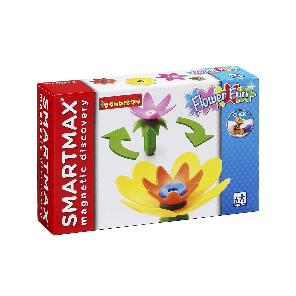 Bondibon Конструктор магнитный Smartmax Забавные цветы