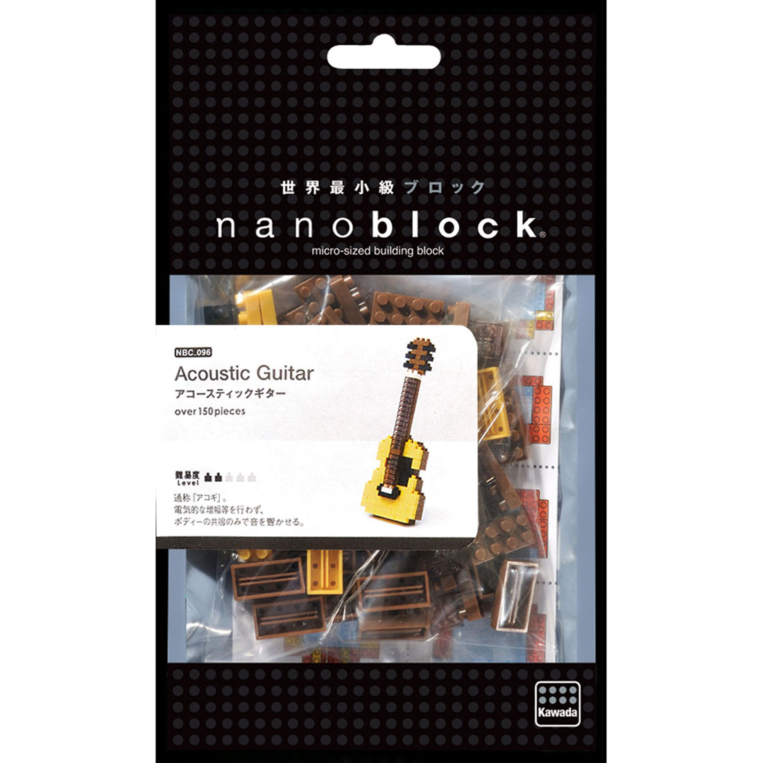NanoBlock Мини-конструктор Акустическая гитара nanoblock паровоз