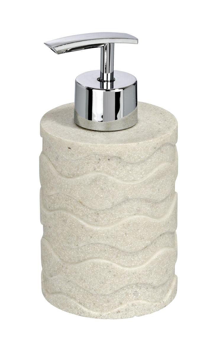 Диспенсер для жидкого мыла Wenko Wave Stone, 300 мл20469100Диспенсер для жидкого мыла Wenko Wave Stone изготовлен из высокопрочного полирезина в строгой классической форме. Он очень удобен в использовании: просто надавите сверху, и из диспенсера выльется необходимое количество мыла.Диспенсер для жидкого мыла Wenko Wave Stone стильно украсит интерьер, а также добавит в обычную обстановку яркие и модные акценты.